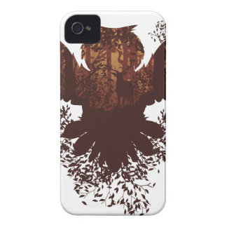 Owl and Autumn Forest Landscape iPhone 4 Cover