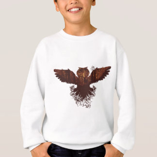 Owl and Autumn Forest Landscape Sweatshirt