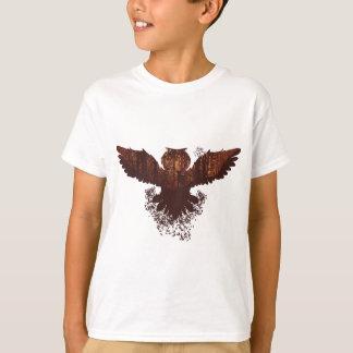 Owl and Autumn Forest Landscape T-Shirt