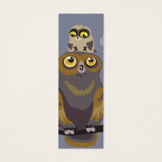 Owl and Baby Owl Bookmark Mini Business Card