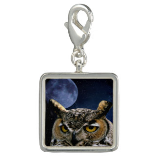 Owl and Blue Moon Charm