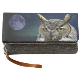 Owl and Blue Moon Clutch