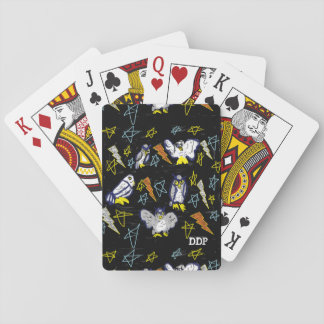 owl and bolt playing cards