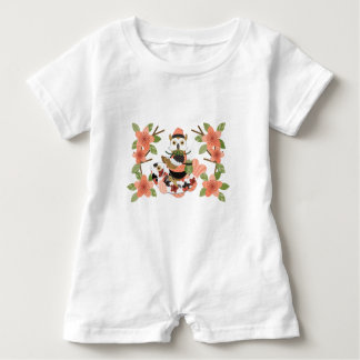 Owl and carp /An owl and a carp Baby Romper