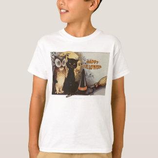 Owl and Cat Halloween T-Shirt