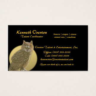 Owl and Full Moon Business Card