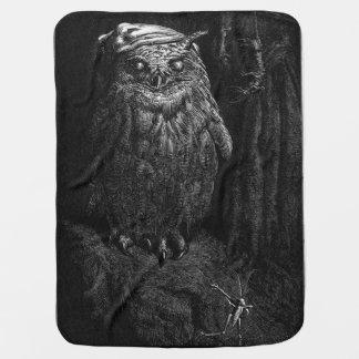 owl and grasshopper baby blanket