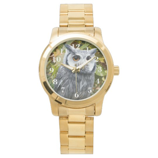 Owl and Leaves Wristwatch