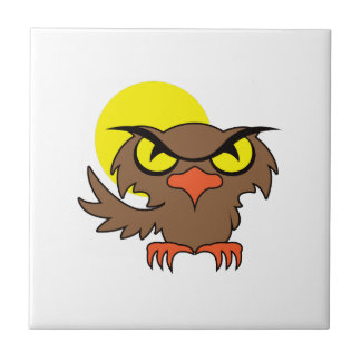 OWL AND MOON CERAMIC TILES