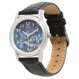 Owl and Night Sky Wrist Watches