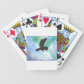 Owl And Northern Lights Bicycle Playing Cards