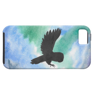 Owl And Northern Lights iPhone 5 Cover