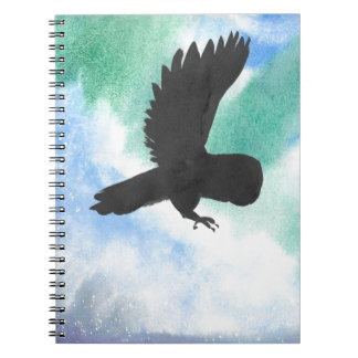 Owl And Northern Lights Notebook