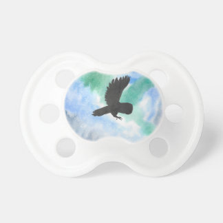 Owl And Northern Lights Pacifier