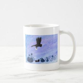 Owl And Pumpkin Patch Coffee Mug