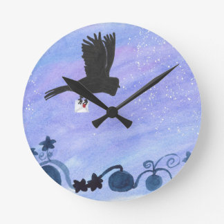 Owl And Pumpkin Patch Round Clock