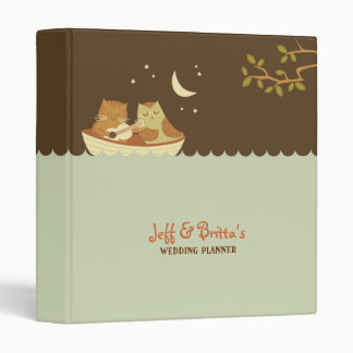 Owl and Pussycat Wedding Vinyl Binders