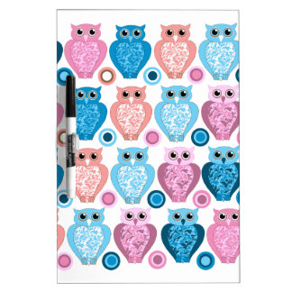 Owl and Spots Design Dry Erase Board