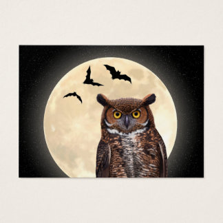 Owl and The Full Moon Business Card