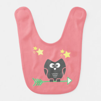 Owl and the stars baby bibs
