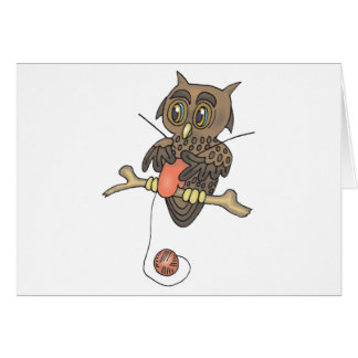 owl and yarn knifty knitter card
