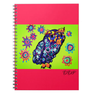 Owl art 2 notebook