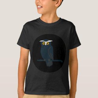 owl art design black fashion T-Shirt