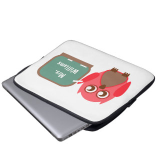 Owl At Chalkboard Electronics Bag For Teachers