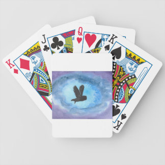 Owl At Night Bicycle Playing Cards