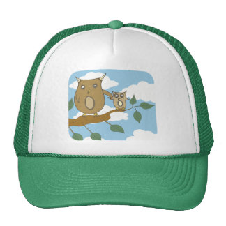 Owl Baby and Mother Trucker Hat