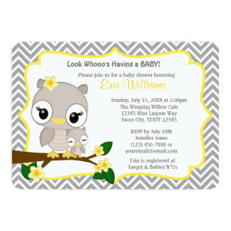 Owl Baby Shower Invitations Announcements Zazzle Canada