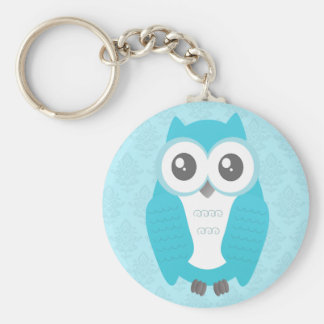 Owl Baby Shower Keychain Blue
