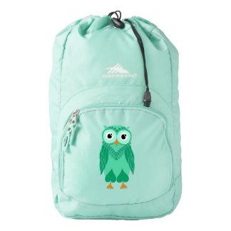 Owl Backpack: Green Owl