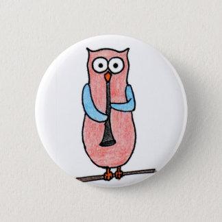 Owl Badge 2 Inch Round Button
