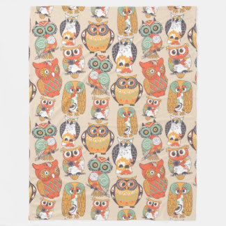 Owl Be Collection Fleece Blanket