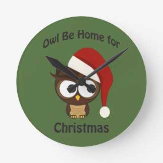 Owl be home for Christmas! Clocks
