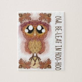 Owl Be-leaf In Hoo-Hoo (October 2017) Jigsaw Puzzle