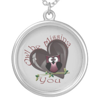 Owl be Missing You, Cute Owl and Heart  Necklace