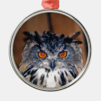 Owl Be seeing you Silver-Colored Round Ornament