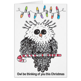Owl be Thinking of You This Christmas Card