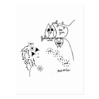 Owl 'Be You'  Postcard