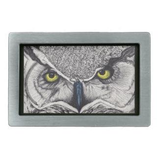 owl belt buckle