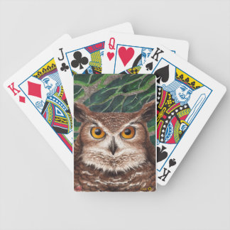 Owl Bicycle Playing Cards