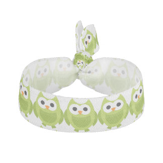 Owl Bird Animals Cute Green Elastic Hair Tie