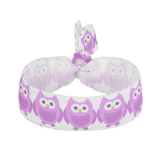 Owl Bird Animals Cute Purple Hair Ties
