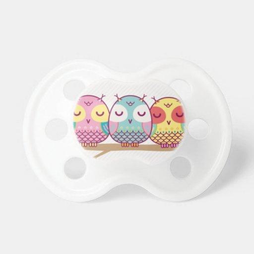 Owl Bird Cute Party Congratulations Shower Destiny Baby Pacifier
