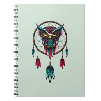 Owl Bird Dreamcatcher Art Notebooks