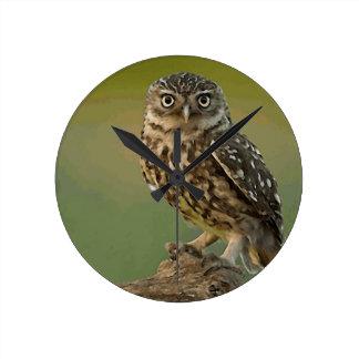 Owl Bird Eyes Tree Wall Clock