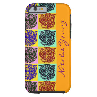 owl birds pattern / name tough iPhone 6 case