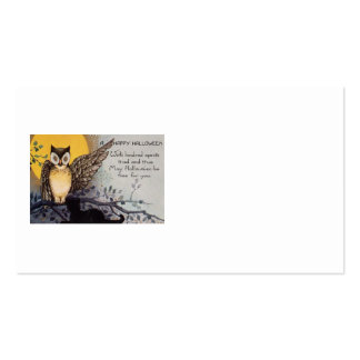 Owl Black Cat Full Moon Tree Night Pack Of Standard Business Cards